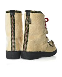 Penelope Chilvers Natural Impossible Calf Hair Boots