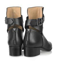 Proenza Schouler Black Open-back Leather Boots