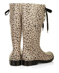 See By Chloé Multicolor Lace-up Wellington Rain Boot