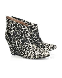 Sigerson Morrison Black Printed Calf Hair Ankle Boots