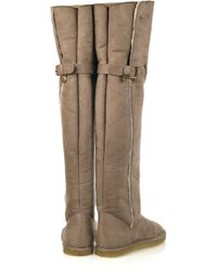 Stella McCartney Brown Shearling-lined Thigh Boots