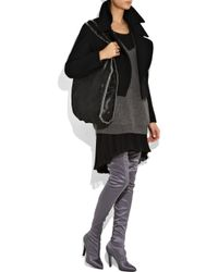Stella McCartney Gray Thigh-high Satin Boots