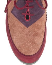 Tabitha Simmons Red Camille Suede Brogues