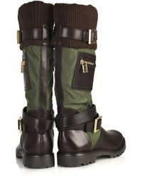 Tory Burch Brown Buckled Leather Boots