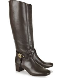 Tory Burch Brown Donovan Leather Boots