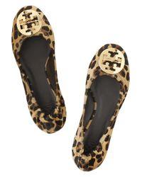 Tory Burch Brown Reva Leopard Ballerinas