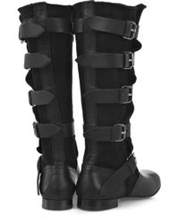 Vivienne Westwood Black Shearling-lined Pirate Boots