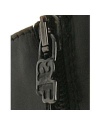 Alberto Fermani - Black Leather Buckle Zip Detail Boots - Lyst
