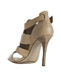 BCBGMAXAZRIA - Brown Doe Python Stamped Haze Sandals - Lyst