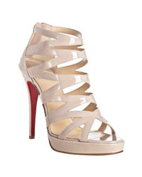 Christian Louboutin | White Fernando 120 Patent Leather Sandals | Lyst