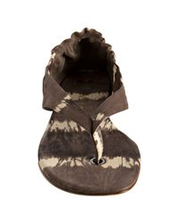 Delman - Brown Taupe Tie-dye Leather Serena Thong Sandals - Lyst