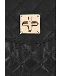 DKNY - Black Quilted Leather Messenger Bag - Lyst