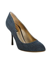 Dolce & Gabbana | Blue Denim Stiletto Pumps | Lyst