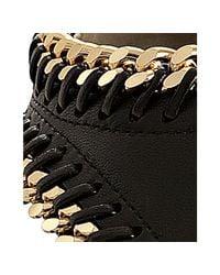 Giuseppe Zanotti - Black Leather Chain Link Thong Sandals - Lyst