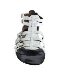 Giuseppe Zanotti | White Leather Buckle Strap Gladiator Sandals | Lyst