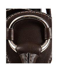Gucci - Brown Leather Icon Bit T-strap Platform Sandals - Lyst