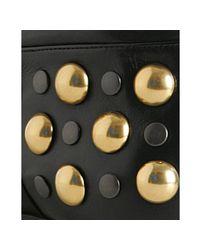 Gucci - Black Leather Babouska Studded Flat Boots - Lyst