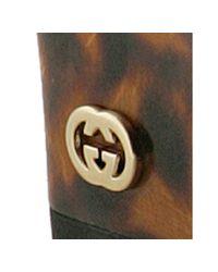 Gucci - Black Patent Swing Tortoise Wedges - Lyst