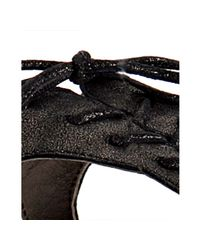 Joie - Black Gunmetal Leather Just A Little Bit Sandals - Lyst