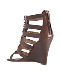 Kelsi Dagger Brooklyn - Light Brown Leather Juno Wedges - Lyst