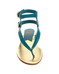 Kors by Michael Kors - Blue Peacock Patent Leather Scorpion Gladiator Sandals - Lyst