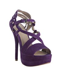 Mea Shadow | Purple Violet Suede Francesca Platform Sandals | Lyst