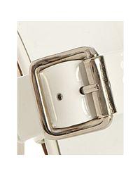 Michael Kors - White Patent Dauphin Buckle Platform Sandals - Lyst