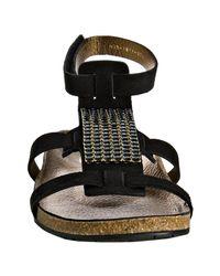 Pedro Garcia | Black Jet Suede Crystal Silke Gladiator Sandals | Lyst