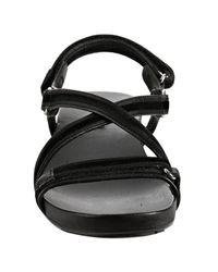 Prada | Sport Black Saffiano and Velour Cross Strap Sandals | Lyst