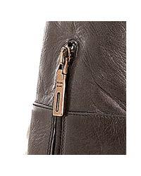 Prada | Gray Smoke Grey Vitello Shine Tall Boots | Lyst