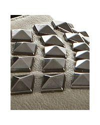 Rock & Republic - Gray Grey Leather Nika Studded Pumps - Lyst