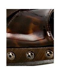 Stuart Weitzman - Brown Cognac Patent Blenny Peep Toe Slingbacks - Lyst