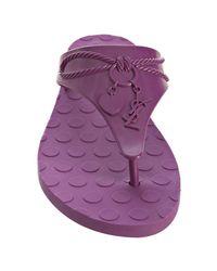 Saint Laurent - Purple Jelly Flip-flop - Lyst