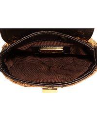Badgley Mischka | Metallic Little Connie Sequins Mini Bag | Lyst