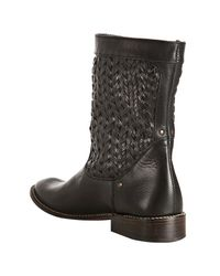 Frye - Black Woven Leather Shirley Stud Huarach Boots - Lyst