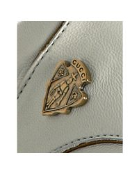 Gucci - White Leather Shield Logo Crest Sneakers - Lyst