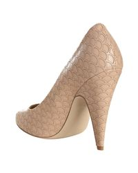 Stella McCartney - Shell Pink Scalloped Faux Leather Pumps - Lyst