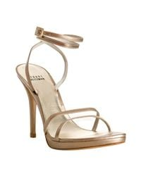 Stuart Weitzman | Pale Pink Kid Leather Gloalign Strappy Sandals | Lyst