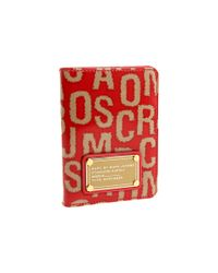 Marc By Marc Jacobs | Red Hairy Logo Passport Sleeve | Lyst