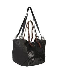 Pauric Sweeney - Black Sequin Panel Leather Tote - Lyst