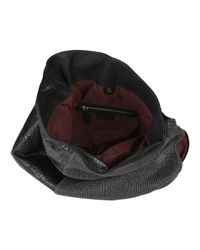 Pauric Sweeney Black Texture Mix Hobo Bag