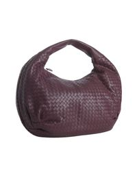 Bottega Veneta | Purple Bordeaux Woven Leather Large Hobo | Lyst
