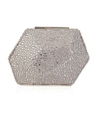 Hervé Léger | Metallic Crystal-encrusted Minaudiere Clutch | Lyst