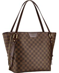 Louis Vuitton | Brown Cabas Rivington | Lyst