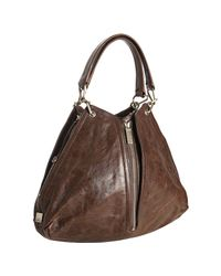 Kooba | Brown Leather Jagger Zip Expandable Shoulder Tote | Lyst