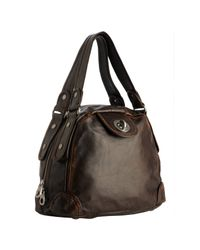 Marc By Marc Jacobs | Brown Chocolate Leather Punk Posh Bowler Bag | Lyst