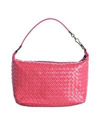 Bottega Veneta   Pink Woven Leather Small Shoulder Bag   Lyst