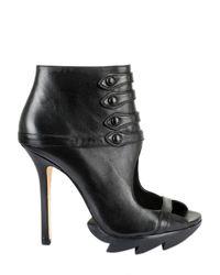 Camilla Skovgaard | Black 115mm Calfskin Open Toe Button Up Boots | Lyst