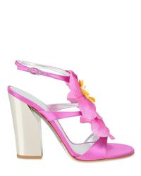 Casadei | Pink Orchid Sandals | Lyst