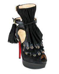 Christian Louboutin - Black Misfit 150 Velour Ankle Boots - Lyst